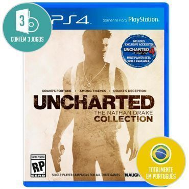 Jogo Uncharted: The Nathan Drake Collection para Playstation 4 (PS4) - Sony