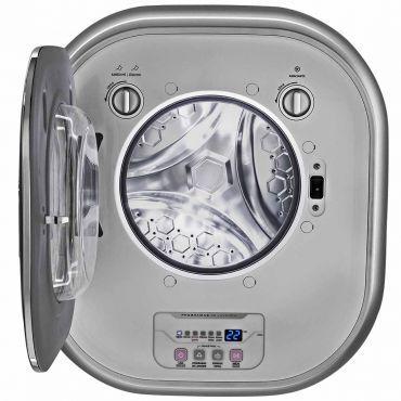 Lavadora de Roupa Electrolux Mini Silent Água Quente de Parede 3Kg Cinza - LFE03
