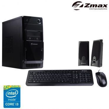 Computador Zmax com Processador Intel® Core™ i3-4160, 4GB de Memória, 1TB de HD, Gravador de DVD, Entrada HDMI e Linux