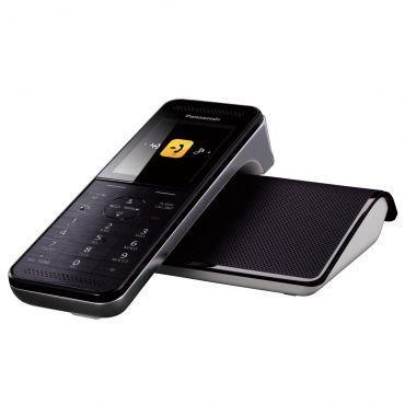 Telefone Sem Fio Panasonic KX-PRW110LBW Preto - Conexão com Smartphone, Replicador de sinal Wi-fi, Babá Eletrônica, ID, Viva Voz, Visor Colorido 2.2