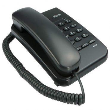 Telefone com fio Intelbrás KEO K103 Grafite - funções redial, pause e flash, 2 níveis de campainha, indicação luminosa de chamada