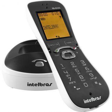 Telefone sem Fio Intelbras TS 8220 Branco, Identificação de chamadas, Viva-voz, Design diferenciado, display luminoso e Menor consumo de energia.