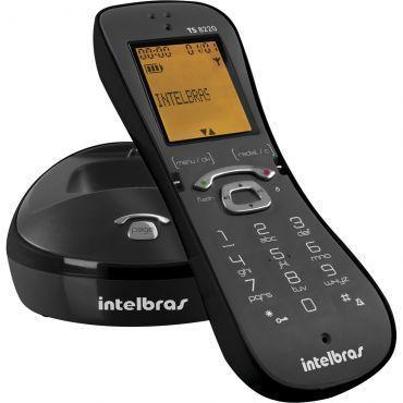Telefone sem Fio Intelbras TS 8220 Preto, Identificação de chamadas, Viva-voz, Design diferenciado, display luminoso e Menor consumo de energia.