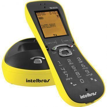 Telefone sem Fio Intelbras TS 8220 Amarelo, Identificação de chamadas, Viva-voz, Design diferenciado, display luminoso e Menor consumo de energia.
