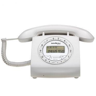 Telefone com Fio Retrô Intelbras TC 8312 Branco - Identificador de Chamadas, Viva Voz, Tecla Hold com 6 tipos de melodia, 16 opções de campainha