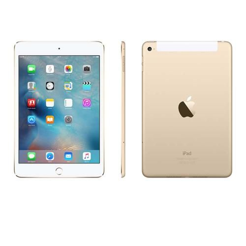 iPad Mini 4 Apple com Wi-Fi + Cellular, Tela 7,9'', Sensor Touch ID, Bluetooth, Câmera iSight 8MP, FaceTime HD e iOS 9 - Dourado