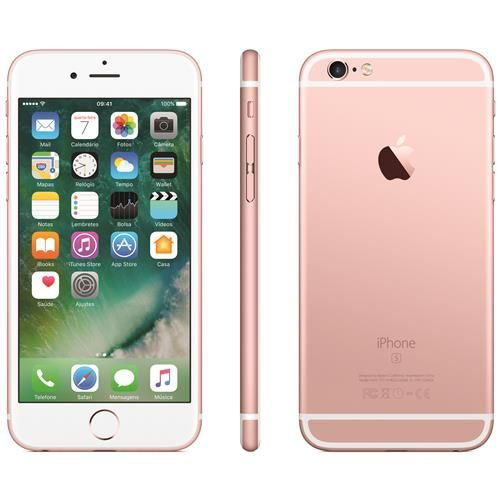 "iPhone 6s Apple com Tela 4,7"" HD, 32GB, 3D Touch, iOS 9, Sensor Touch ID, Câmera iSight 12MP, Wi-Fi, 4G, GPS, Bluetooth e NFC - Ouro Rosa"