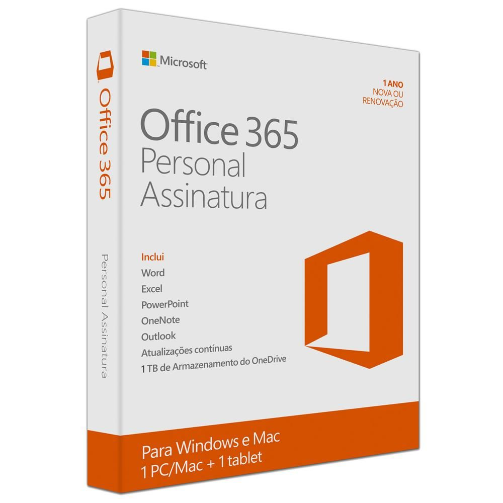 Microsoft Office 365 Personal QQ2 00108 para PC ou Mac – Assinatura Anual