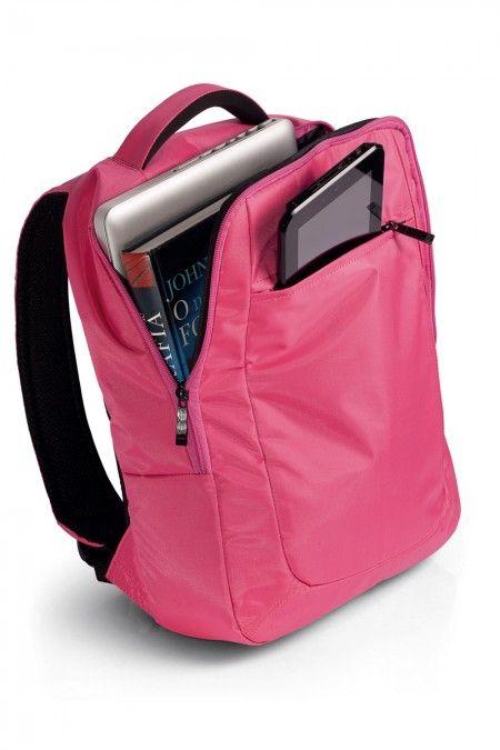 Mochila Slim para Notebook Rosa - Multilaser BO195 - resistente a Agua – Nylon prime