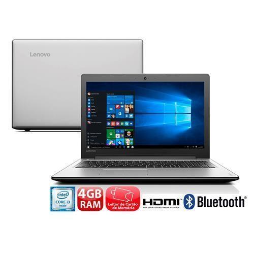 """Notebook Lenovo Ideapad 310 com Intel® Core™ i3-6006U, 4GB, 1TB, Leitor de Cartões, HDMI, Wireless, Bluetooth, Webcam, LED 15.6"""" e Windows 10"""