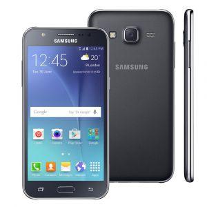 """Smartphone Samsung Galaxy J5 Duos Preto com Dual chip, Tela 5.0"""", 4G, Câmera 13MP, Android 5.1 e Processador Quad Core de 1.2 Ghz"""