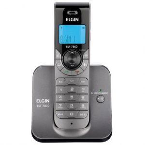 Telefone sem Fio Elgin TSF7800 Cinza - Tecnologia DECT 6.0, Identificador de Chamadas, Viva Voz, Conferência a Três*, Restrição para 4 Números